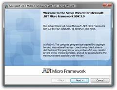 Microsoft .NET Micro Framework SDK 3.0 - Setup Wizard